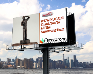 Armstrong Air & Heating Receives The Lennox Award For Excellence.